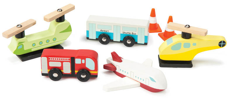 Le Toy Van-Kids Wooden Toys-Airport Set Chocks Away