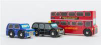 Little London Vehicle Set-3pk