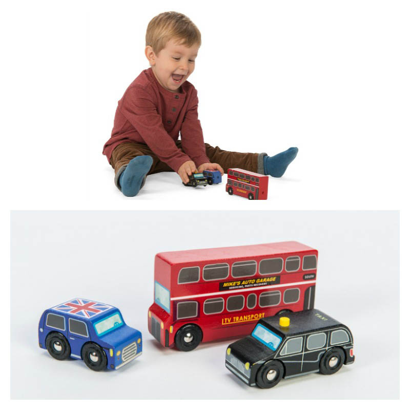 Le Toy Van-Little London Wooden Vehicles - Set of 3
