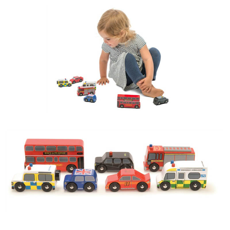 Le Toy Van London Wooden Vehicles Set of 7