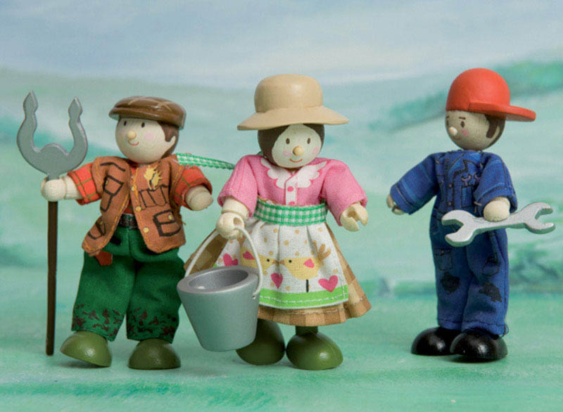 Le Toy Van-Miniature Dolls-Budkins Farmers Set {Triple Pack}