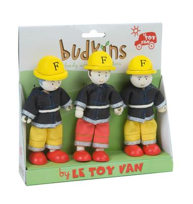 Le Toy Van Budkins Firefighters Set