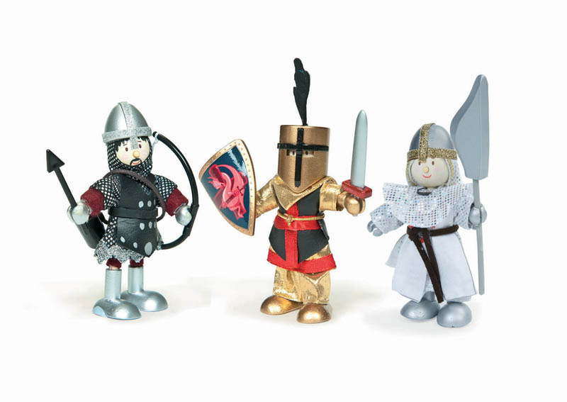 Le Toy Van-Miniature Dolls-Budkins Knights {Triple Pack}