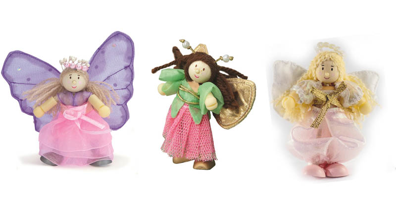 Le Toy Van-Miniature Dolls-Budkins Truth Fairies Set {Triple Pack}