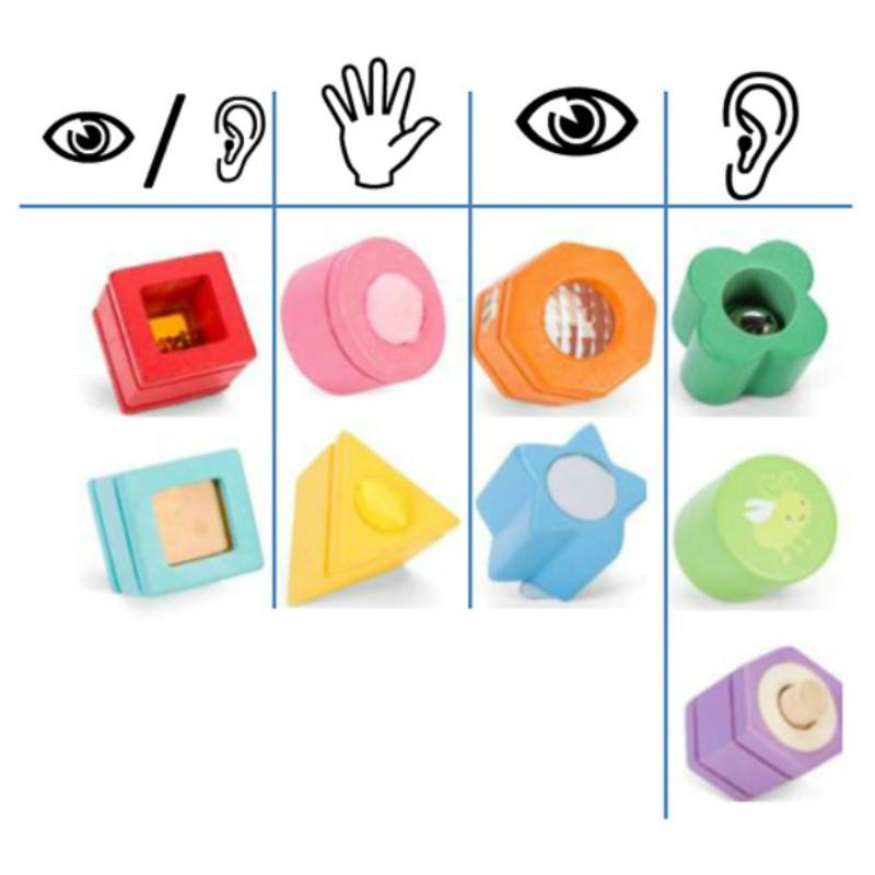 Le Toy Van Petilou Sensory Shapes 9pcs