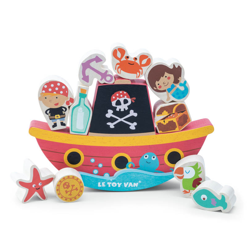 "Le Toy Van - Pirate Balance ""Rock and Stack"""
