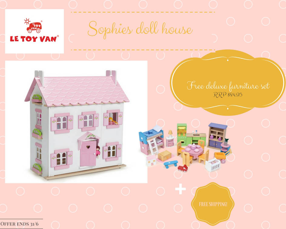 Le Toy Van Sophie Dolls House with FREE furniture set