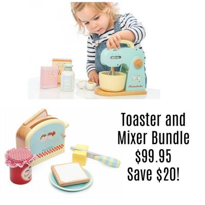 Le Toy Van Toaster and Mixer Bundle