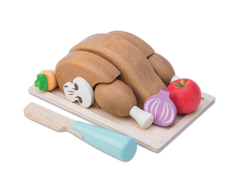 Le Toy Van-Wooden Play Food - Chicken Sunday Roast