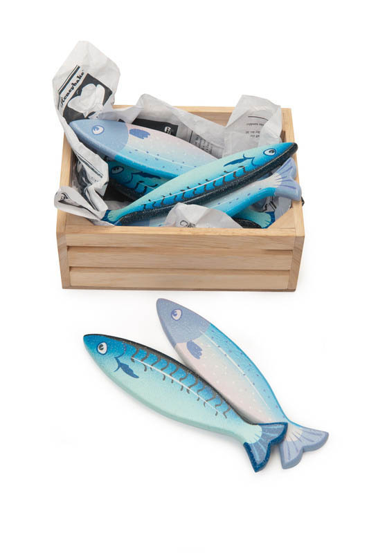 Le Toy Van-Wooden Play Food-Fresh Fish in Crate