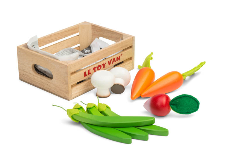 Le Toy Van-Wooden Play Food-Harvest Vegetables Crate