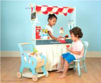 Le Toy Van-Wooden Play Food - Reversible Shop and Cafe