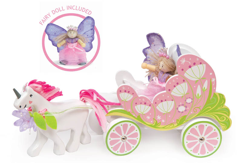 Le Toy Van-Wooden Toys- Fairybelle Carriage and Unicorn