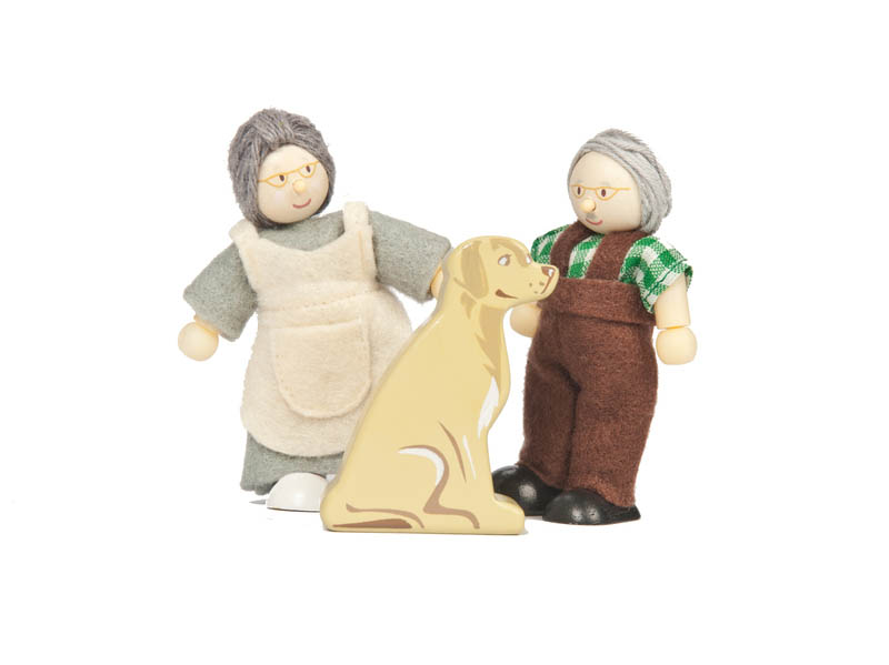 Le Toy Van- Wooden Toys for Kids- Budkins Dolls Grandparents Set