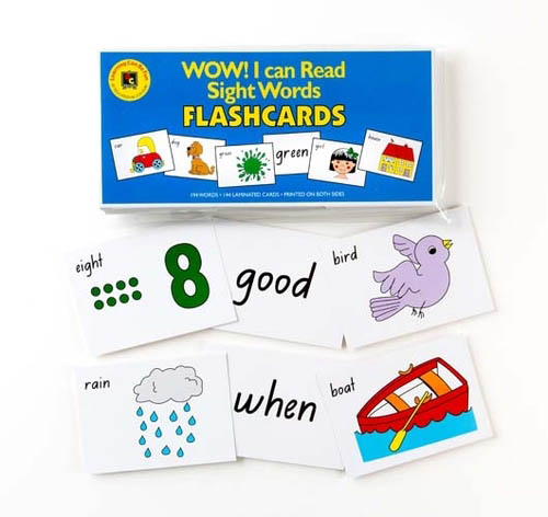 Wow! I Can Read Sight Words Flashcards