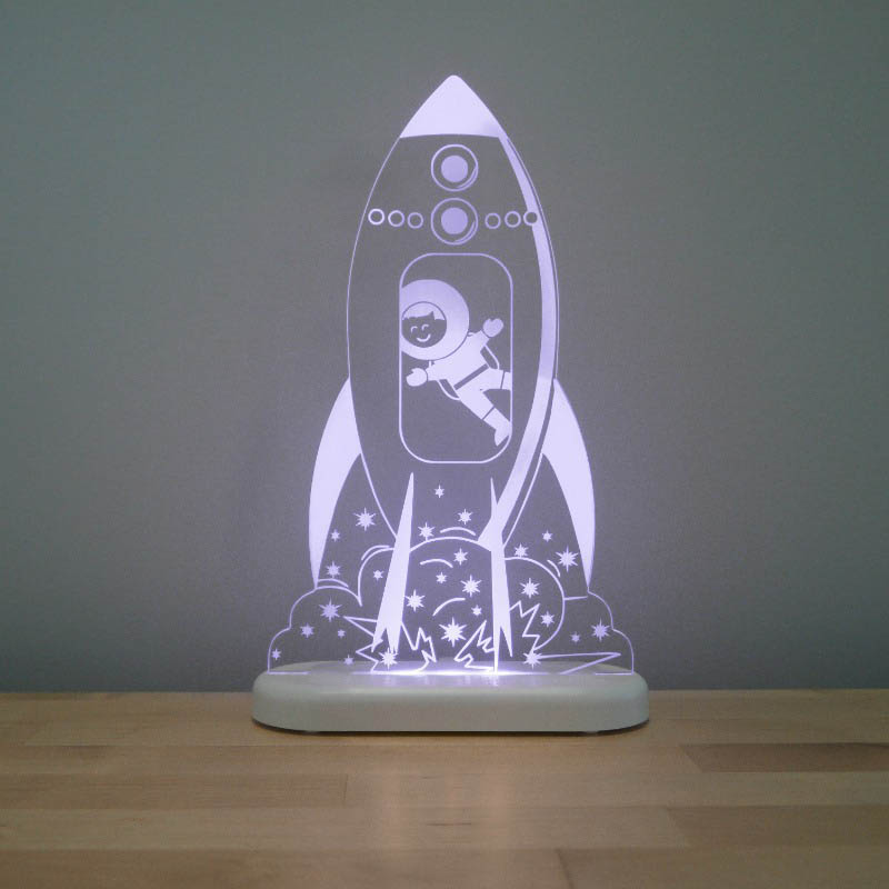 Aloka - LED Sleepy Light - Rocket - DUAL POWERED