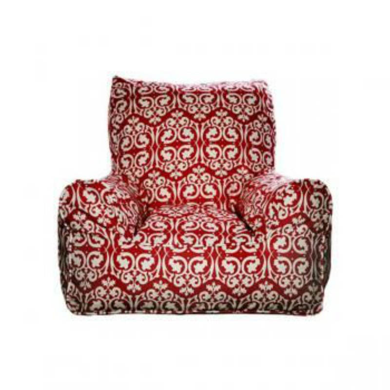 Lelbys-Kids Bean Bags-Bean Chair{Damask Red}