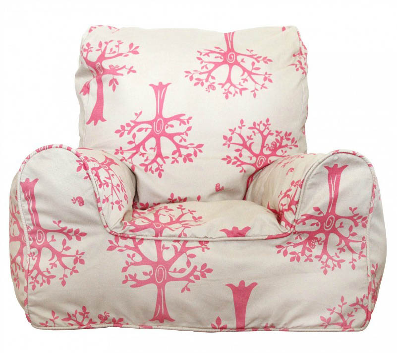 Lelbys-Kids Bean Bags-Bean Chair{Pink Orchard}