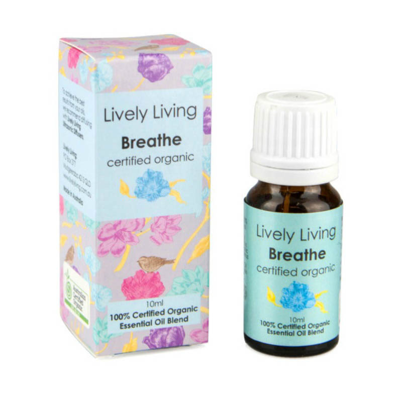 Lively Living-100% Certified Organic Essential Oil Blend-Breathe