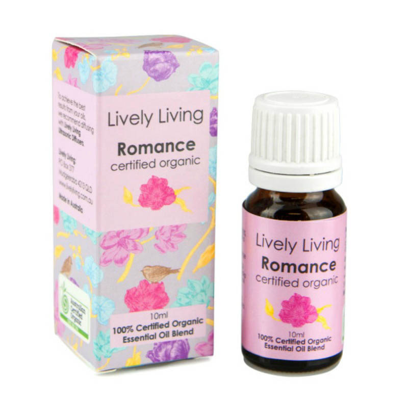 Lively Living 100% Certified Organic Essential Oil Romance Blend