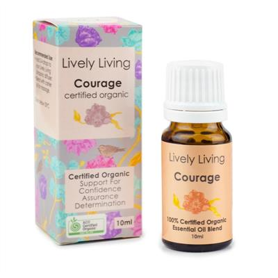 Lively Living 100% Certified Organic Essential Oil Courage