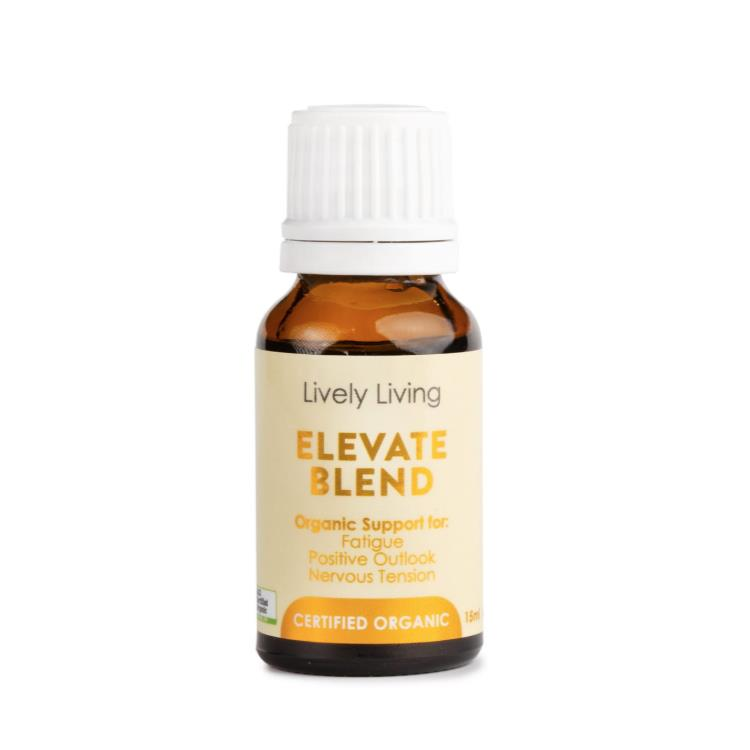 Lively Living 100% Certified Organic Essential Oil Elevate Blend