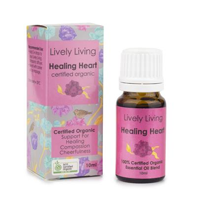 Lively Living 100% Certified Organic Essential Oil Healing Heart