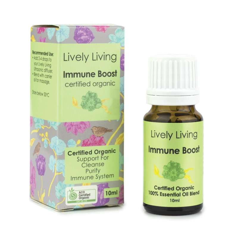 Lively Living 100% Certified Organic Essential Oil Immune Boost