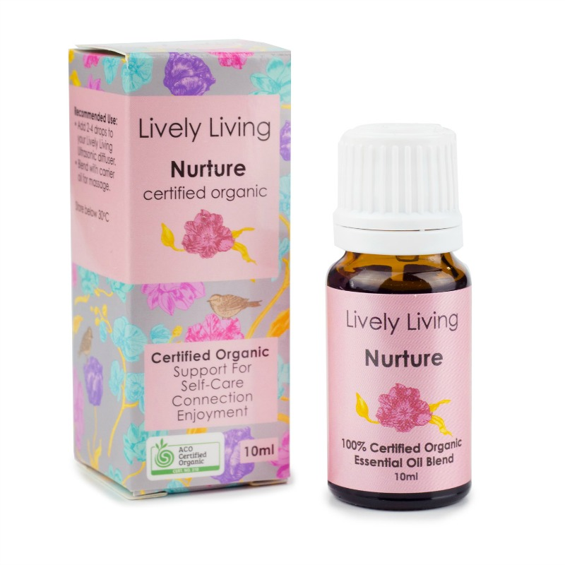 Lively Living 100% Certified Organic Essential Oil Nurture