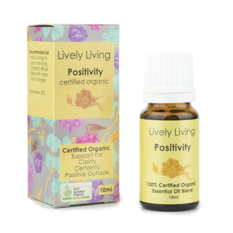 Lively Living 100% Certified Organic Essential Oil Positivity