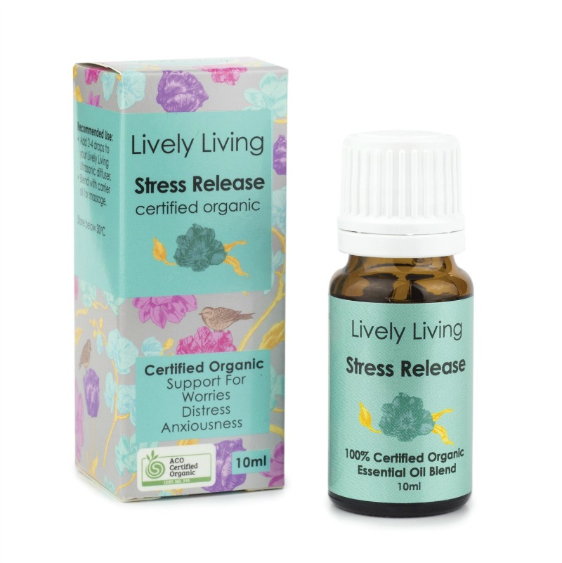 Lively Living 100% Certified Organic Essential Oil Stress Release