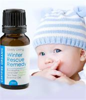 Lively Living 100% Certified Organic Essential Oil Winter Rescue Remedy
