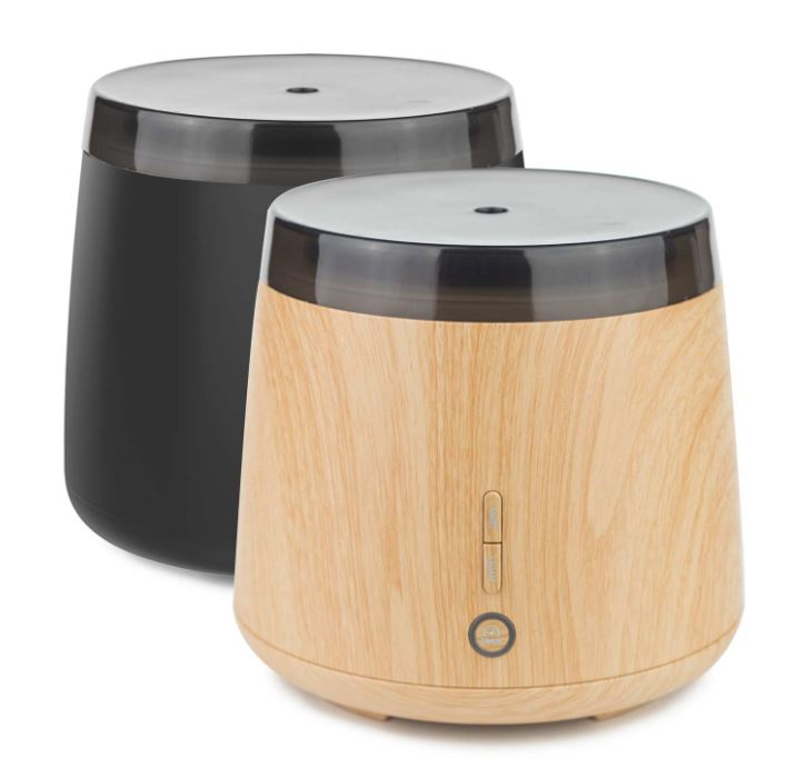 Lively living Aroma Elm Ultrasonic Vaporiser Matt Black and Woodlook