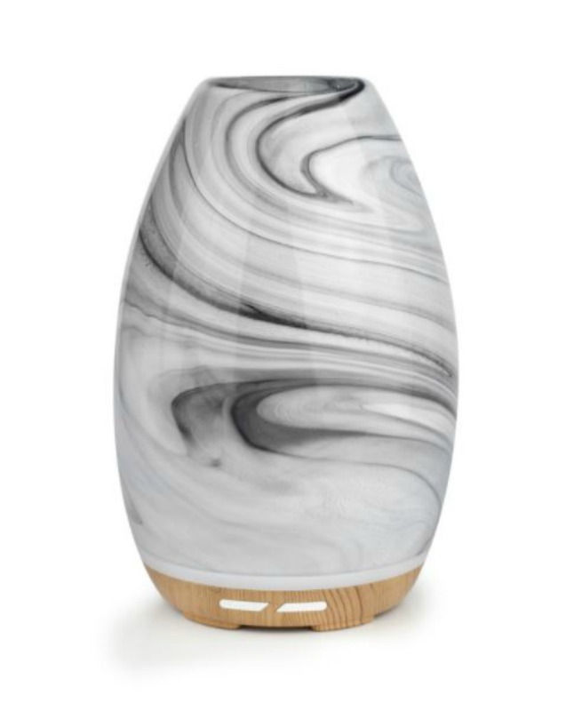 Lively Living Aroma Swirl Glass Ultrasonic Vaporiser - Black