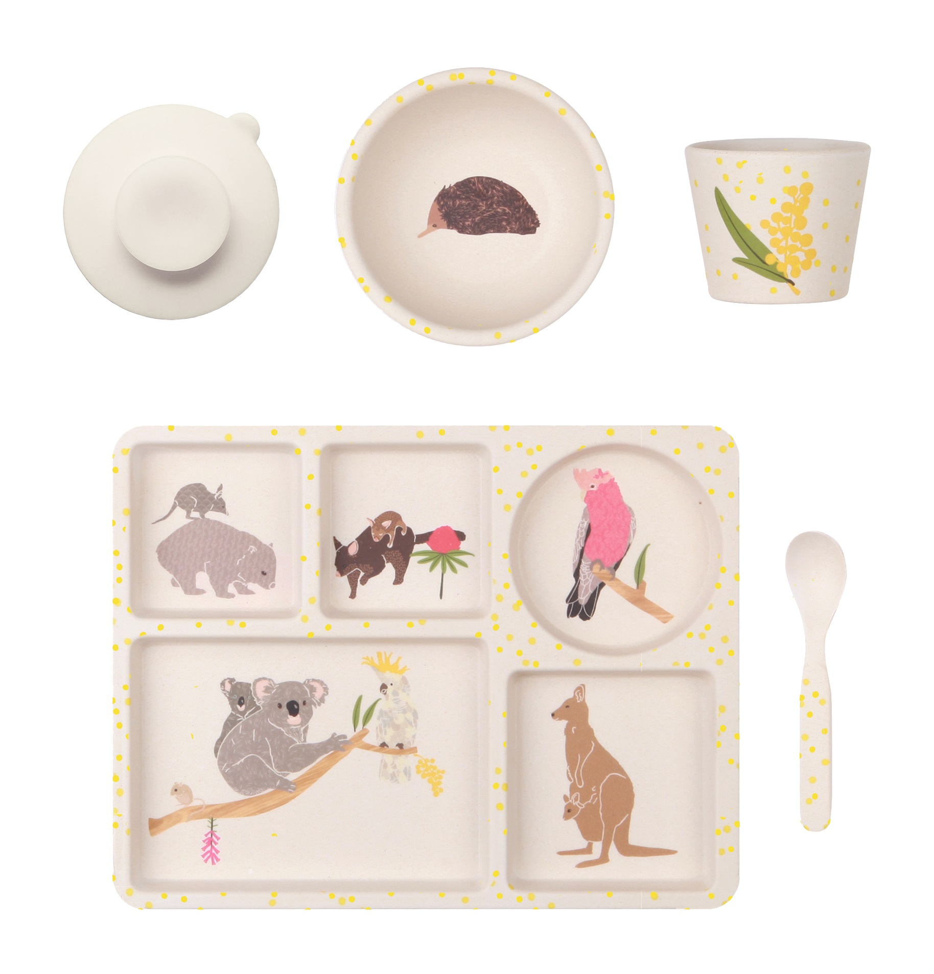 Love Mae Bamboo Dinner Set Australiana