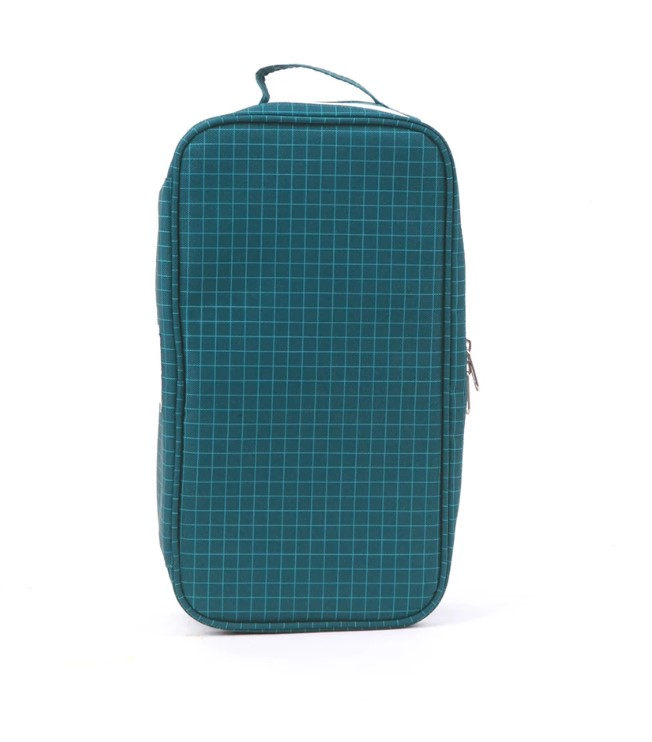 Love Mae Cooler Lunch Bag with Ice Brick - Navy Grid