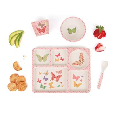 Love Mae Divided Plate Set Butterflies