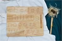 Wooden Lowercase Writing Board