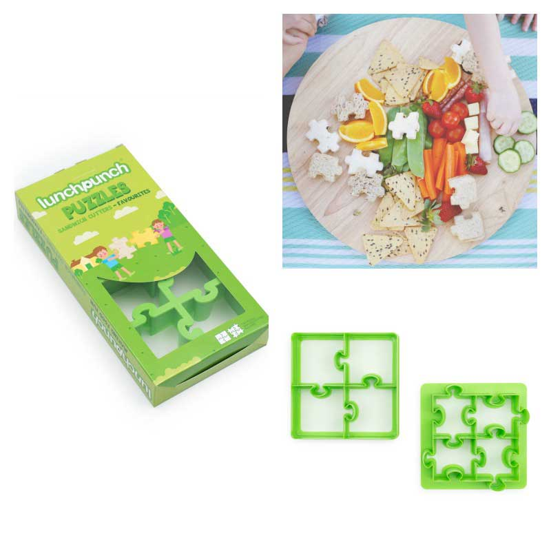 Lunch Punch Puzzles Sandwich Cutter 2pk