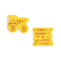 Lunch Punch Pairs - Sandwich Cutters - Construction 2pk
