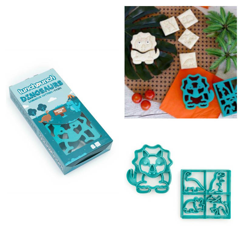 Lunch Punch Pairs - Sandwich Cutters - Dinosaurs 2pk