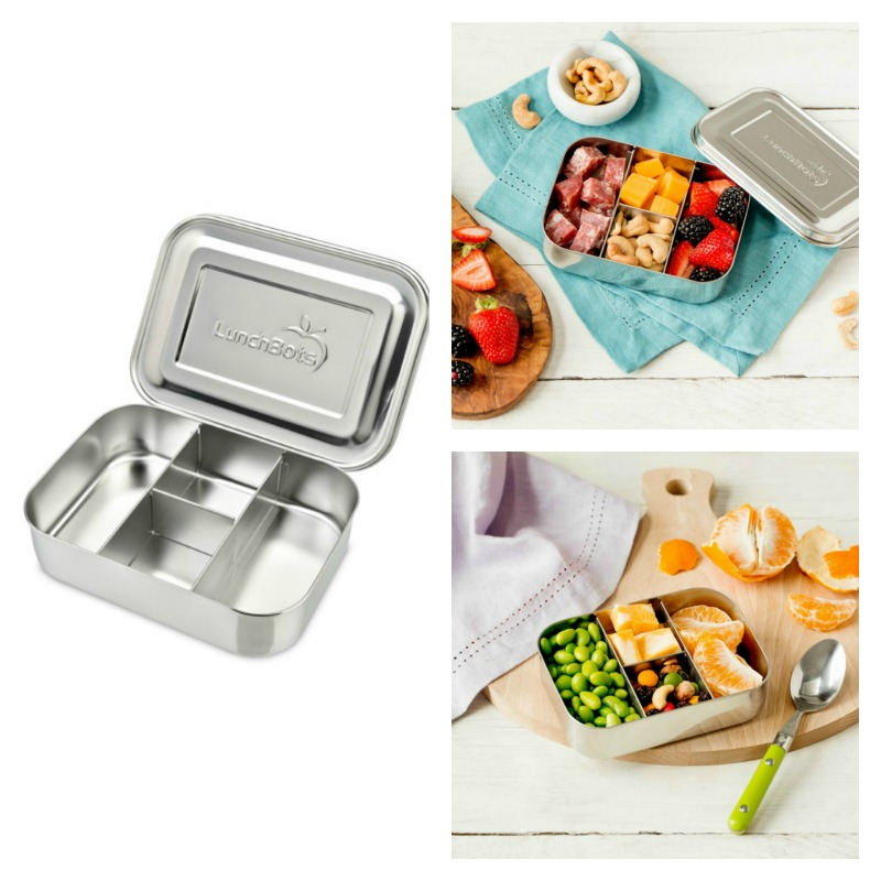 LunchBots Protein Packer Stainless Steel Snack Box