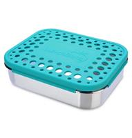 LunchBots Stainless Steel Lunch Box New Trio Dots AQUA