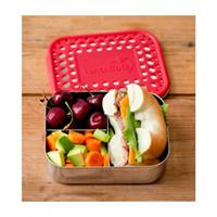 LunchBots Stainless Steel Lunch Box New Trio Dots RED