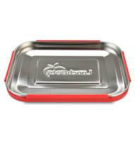LunchBots Stainless Steel Lunch Box - Trio Dots RED