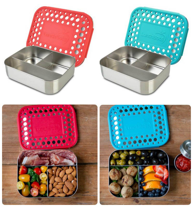 LunchBots Stainless Steel Lunch Box - Trio Dots