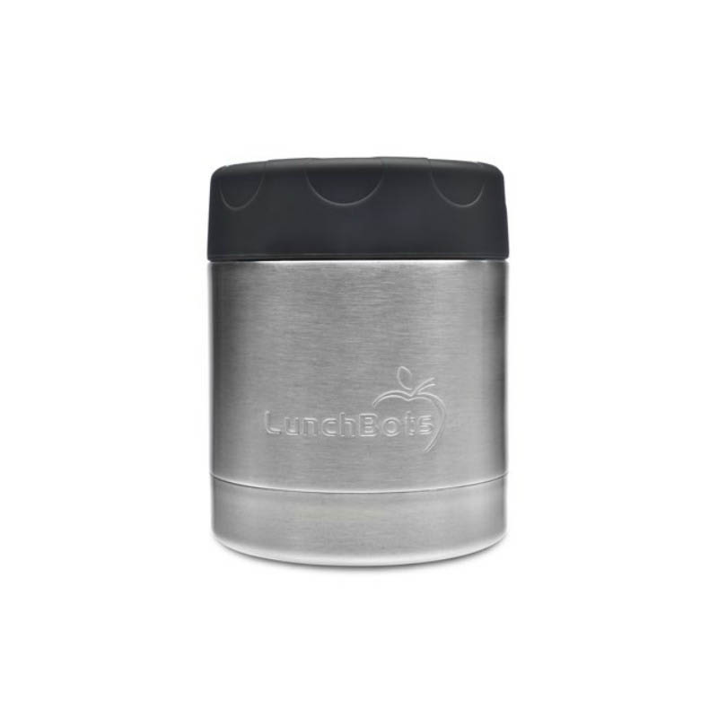 LunchBots Thermal Stainless Steel Insulated Food Jar - 235ml/8oz black