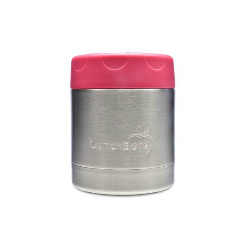 LunchBots Thermal Stainless Steel Insulated Food Jar - 235ml/8oz pink