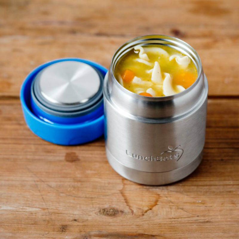 LunchBots Thermal Stainless Steel Insulated Food Jar - 235ml/8oz royal blue