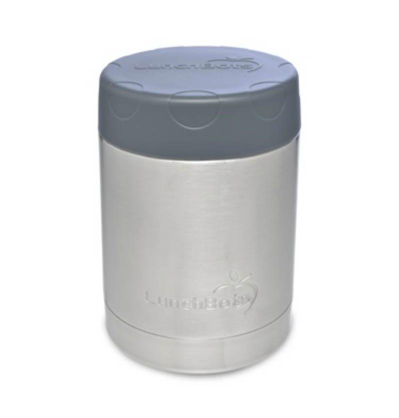 LunchBots Thermal Stainless Steel Insulated Food Jar-350ml-Grey